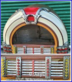 1947 Wurlitzer 1015 Jukebox Bubbler Original 78's Vinyl Records