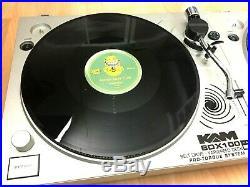 2 X Kam Bdx 100 Turntables (pair) & 10 X 12 Vinyl Records Decks Games Room Dj