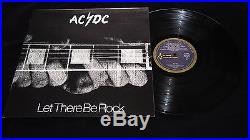 AC/DC Let There Be Rock Blue Roo Alberts Press Vinyl 1977 LP 12 Record EX/NM