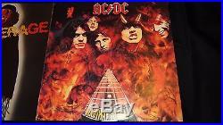 AC/DC Vol 1 1981 Press 7x LP Vinyl Box Set Alberts Blue Label + Iron On Transfer