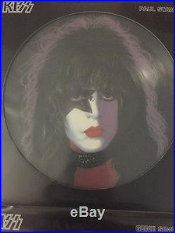 All 4 Kiss Picture Discs Lp's Ace Frehley Gene Simmons Peter Criss Paul Stanley