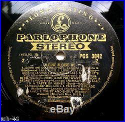 Beatles Please Please Me Original Uk Stereo Black & Gold Rare Label Mispress