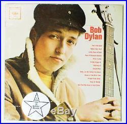 BOB DYLAN S/T LP Vinyl 1962 Columbia CL 1779 ORIGINAL MONO PROMO VG+ HEAR H-01