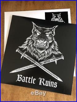 Battle Ruins TEST PRESS Glorious Dead LP Templars Shipwrecked Boston Oi