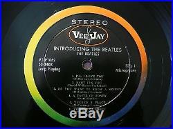 Beatles INCREDIBLE 64 VERS. 1 VJ' INTRODUCING THE BEATLES' AD BACK STEREO LP