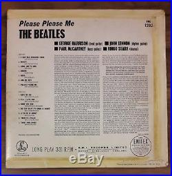 Beatles Please Please Me. PARLOPHONE GOLD BLOCK Vinyl LP (PMC 1202)