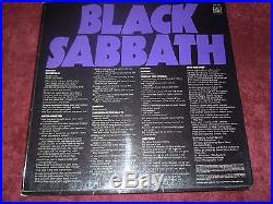 Black Sabbath Master of Reality 1971 UK Vertigo 1st Press With Original Poster EX+