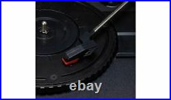 Bush Wooden Turntable Vinyl Record Player with Legs & Bluetooth Black