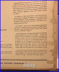 CARL PERKINS DANCE ALBUM Lp 1957 SUN-1225 OG FIRST PRESS! DG MONO INSANELY RARE