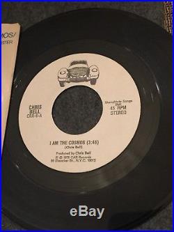 Chris Bell I Am The Cosmos 45 With Sleeve Rare CAR Big Star Memphis