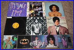 Collection of 12 PRINCE VINYL RECORDS Albums ALL IN GREAT SHAPE Purple Rain 1999