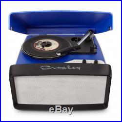 Crosley Collegiate Retro Vinyl Record Player Turntable Blue