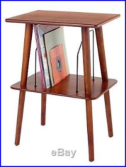 Crosley Manchester Vinyl Entertainment Center Stand with Record Storage Wood