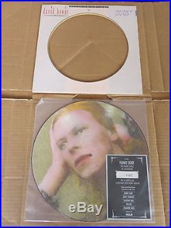 DAVID BOWIE VERY RARE COMPLETE ORIGINAL UK 1984 BIOPIC 5 x PICTURE DISC LP SET