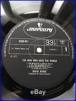 David Bowie The Man Who Sold The World Dress Cover Mercury Original 1971