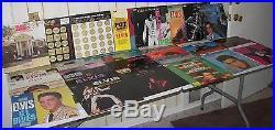 ELVIS PRESLEY LP VINYL RECORD COLLECTION 69 Albums + 9 45'S-MINT