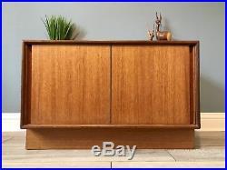 G Plan Mid Century Vinyl Records Cabinet Unit Storage Retro Teak FREE POSTAGE