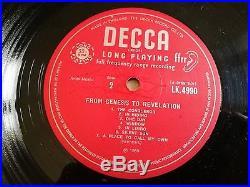Genesis LP From Genesis to revelation UK Decca Mono 1st press & insert HOLYGRAIL