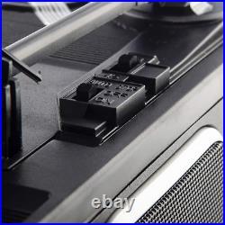 Groov-e Vintage Vinyl Record Player With Built In Speakers Black Gvtt01bk