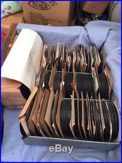 Huge Collection 45 Vintage Rock Records