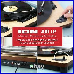 ION Audio Air LP Vinyl Record Player / Bluetooth Turntable with USB Output for