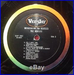 Introducing The Beatles RARE Version 1 MONO Vinyl LP Album VJLP 1062 US VEE-JAY