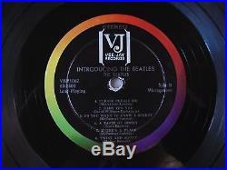 Introducing the Beatles LP Vee-Jay VJ STEREO Rare Vinyl Album VG+/VG- Real Deal