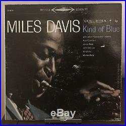 Kind of Blue by Miles Davis 1959 Vinyl Columbia Records Coltrane 6 eye 1st Press