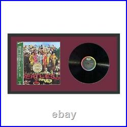 LP + jacket Display Wall Frame 12 Record Cover Vinyl Black Wood withmat choice