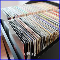 LPBIN LP Storage Cabinet Modern Black / Bin Style Storage for 12 vinyl records