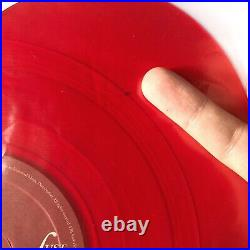 Lana Del Rey Love / Lust For Life Heart-Shaped 10 Red Vinyl ft. The Weeknd