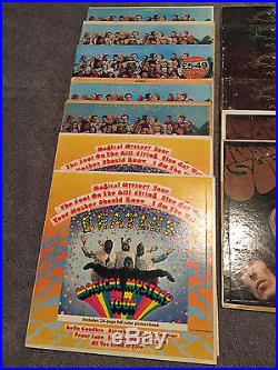 Lot Of 29 Beatles 12'' Vinyl Records Sgt Peppers/Magical Mystery/Abby Road Etc