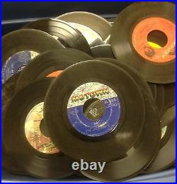 Lot of 50 45 rpm Vinyl Records for Crafts and Decoration 7