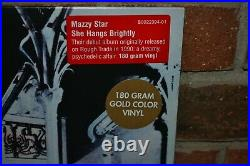MAZZY STAR She Hangs Brightly, Limited GOLD COLORED VINYL LP New & Sealed