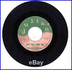 MEGA RARE 1965 GARAGE 45rpm/7-BILLY & THE KIDS SIGNED WENATCHEE WA BAND LISTEN