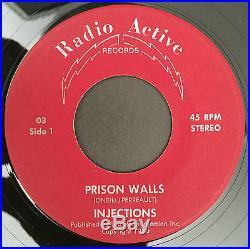MEGA RARE! THE INJECTIONS Prison Walls 7 1980 with ORIGINAL SLEEVE KBD PUNK