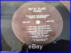 METAL MASSACRE Metal Blade 1982 1st Pressing LP RATT METALLICA very rare