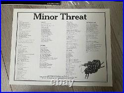 MINOR THREAT Out Of Step 1st PRESS Dischord black flag misfits