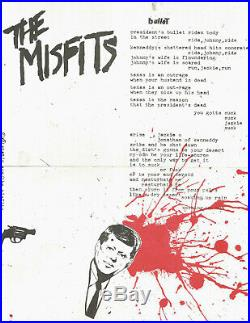 MISFITS Bullet 7 ep, first press (black), with insert VG++ record, EX sleeve