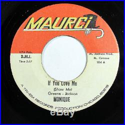 Monique-if You Love Me /never Let Me Go On Maurci Northern 45-m- Hear