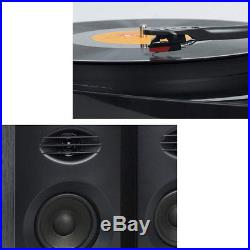 Mbeat Pro-M Stereo Turntable/Vinyl/Record Player System/Bluetooth Speakers Black