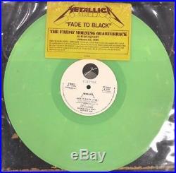 Metallica Fade To Black GREEN VINYL 12 promo