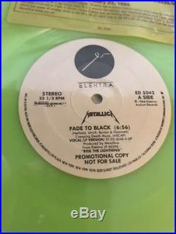 Metallica Fade to Black Promotional Copy. Rare Glow in the Dark Neon Vinyl LP