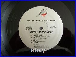 Metallica, Metal Massacre 1, Super selten, LP, Vinyl, Sodom, Slayer, Anthrax, Sepultura