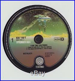 Metallica Ride The Lightning LP (Vertigo 838 140-1) Rare Red Logo Edition