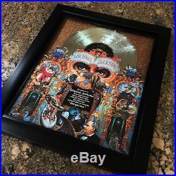 Michael Jackson DANGEROUS Million Record Sales Music Award Vinyl LP Disc Album