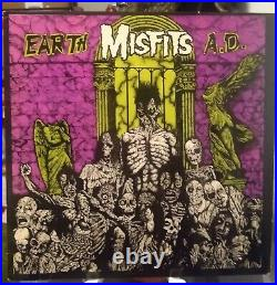 Misfits Earth Ad Wolfs Blood Lp Clear Vinyl 200 Made First Press 1983 Pl9-02