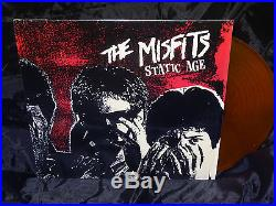 Misfits Static Age YELLOW vinyl only 1000 of them! USA 1997 1ST PRESS EX LP