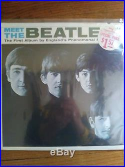 Nine album lot of rare and sealed beatles lps