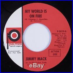 Northern Soul 45 JIMMY MACK My World Is On Fire PALMER NM promo HEAR